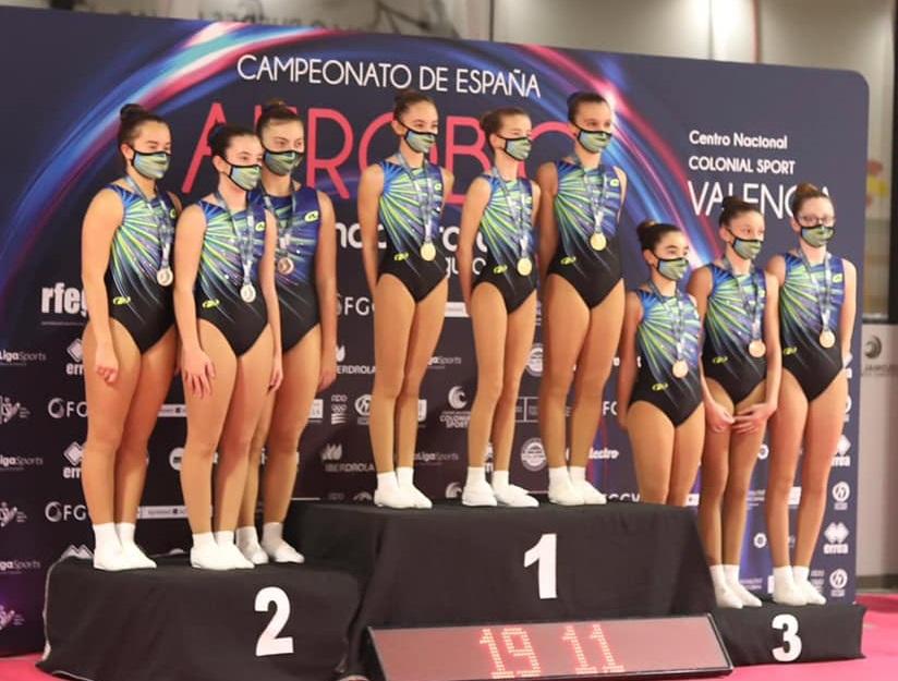 La aeróbica valenciana cosecha 16 medallas en el Campeonato de España