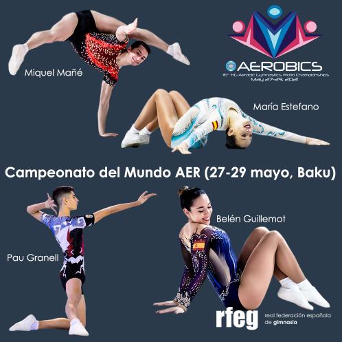 Pau Granell, Belén Guillemot y María Estéfano, designados para el Campeonato del Mundo de gimnasia aeróbica de Bakú