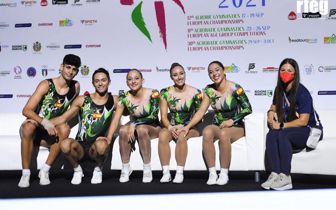 El equipo nacional de Aeróbica finaliza el Campeonato de Europa disputando 4 finales