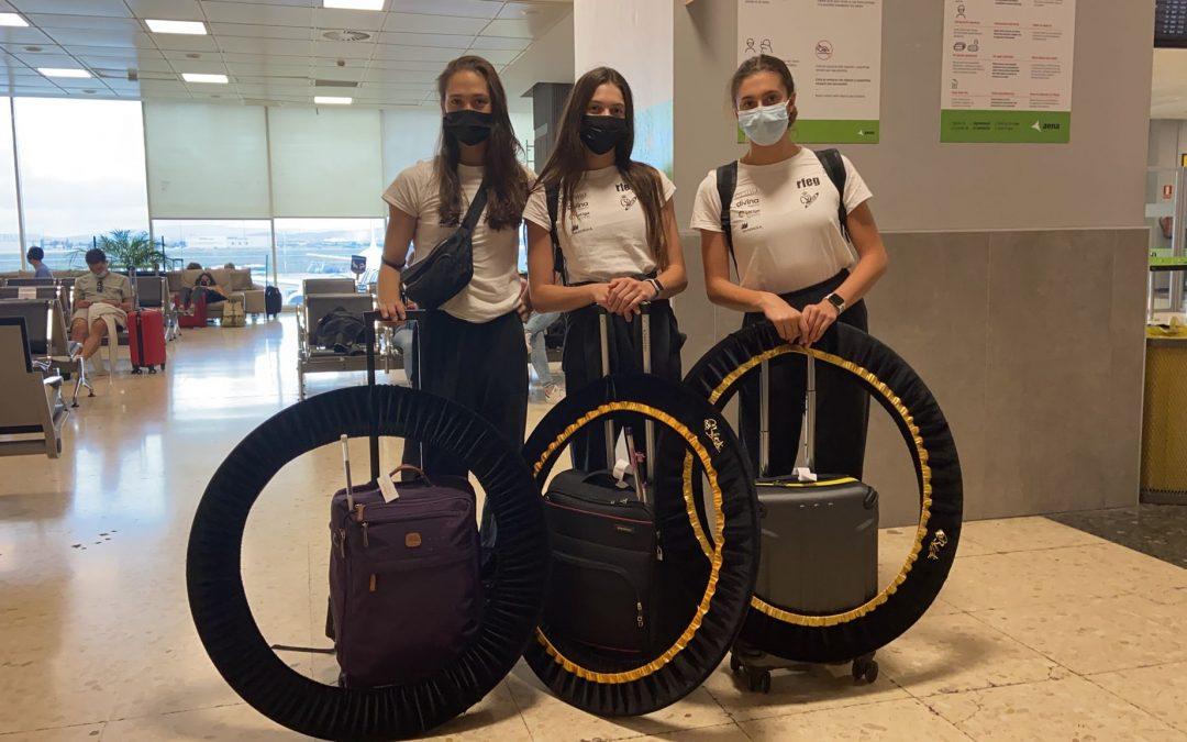 Polina Berezina, Noa Ros y Lucía González se preparan para la Aphrodite Cup